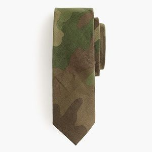 J. Crew Wool Tie in Camouflage.